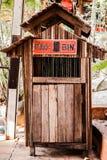 Bin made form wood Royalty Free Stock Image