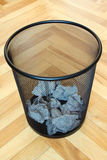Bin with paper waste Stock Image