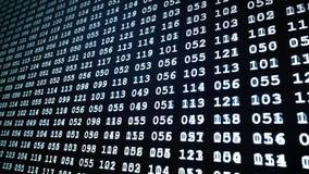 Bin?rer Computercode - Computertechnologie stock footage
