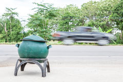 Bin on the road Royalty Free Stock Photography