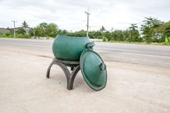 Bin on the road Stock Images
