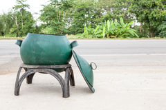 Bin on the road Royalty Free Stock Image
