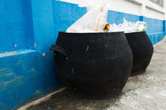 Bin on the road Stock Photography
