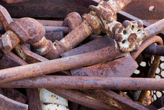 Bin of scrap metal Stock Photo