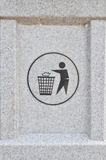 Bin sign on garbage can Stock Images
