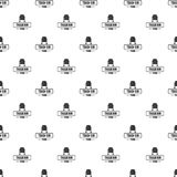 Bin trash town pattern vector seamless. Repeat for any web design Royalty Free Stock Image