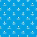 Bin trash town pattern vector seamless blue. Repeat for any use Stock Images