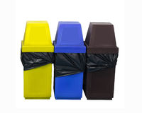 Color Bin on white background Stock Image