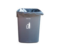 Bin on white background Stock Images