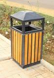 Bin wood. In the garden Stock Images