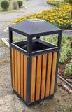 Bin wood. In the garden Stock Photos