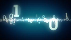 Binair Aantallen het Zoemen Blauw stock illustratie