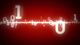 Binair Aantallen het Zoemen Rood vector illustratie