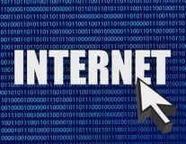 Binair de illustratieontwerp van Internet en van de curseur Stock Fotografie