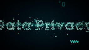 Binair de Privacyblauw van Sleutelwoordengegevens royalty-vrije illustratie