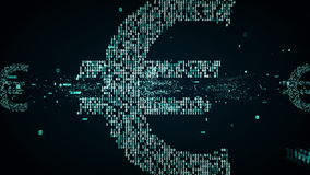 Binair Euro Symboolblauw vector illustratie