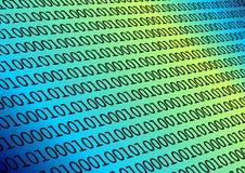 Binair getal in blauw Stock Foto