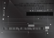 Binair getal en Lijnen Royalty-vrije Stock Afbeeldingen