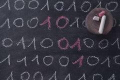 Binair getalsysteem stock afbeeldingen
