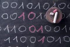 Binair getalsysteem stock afbeelding