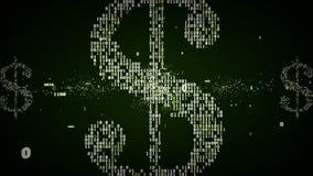 Binair Groen Dollarsymbool royalty-vrije illustratie