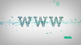 Binair Sleutelwoordenwww Wit vector illustratie