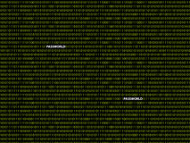 Binair wachtwoord als achtergrond Royalty-vrije Stock Afbeeldingen