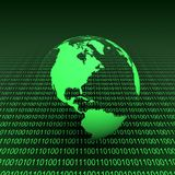 Binaire aarde Stock Foto