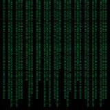 Binaire abstracte achtergrond Stock Afbeelding