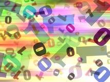 Binaire Achtergrond Stock Afbeeldingen