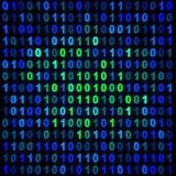Binaire bleue et verte Images stock