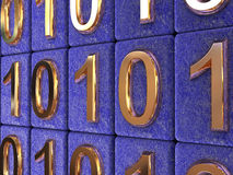 Binaire code. Stock Afbeeldingen