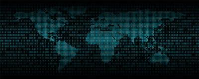 Binaire code abstracte achtergrond, Digitale communicatie code stock illustratie