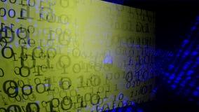 Binaire code Achtergrond - abstracte grote gegevens Gegevensstroom vector illustratie