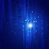 Binaire Code Blauwe Achtergrond Stock Afbeeldingen