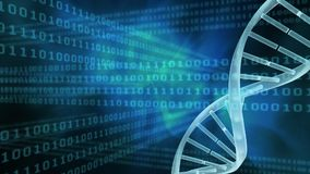 Binaire code en DNA-schroef