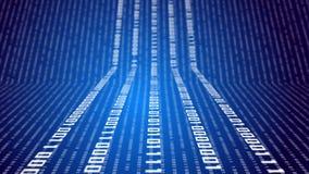 Binaire code inzake abstracte technologie stock illustratie