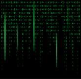 Binaire code nul één matrijs groene mooie banner als achtergrond wa Stock Foto