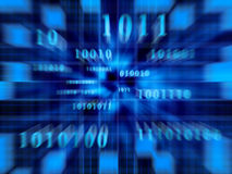 Binaire Code (Snel Gezoem) Royalty-vrije Stock Fotografie
