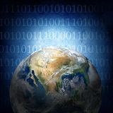 Binaire code van de wereld Stock Afbeeldingen