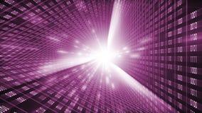 Binaire codeachtergrond AI van Cloud Computing, van IOT en van de Kunstmatige intelligentie Concept royalty-vrije illustratie
