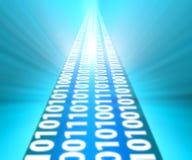 Binaire codemanier aan laptop Royalty-vrije Stock Afbeeldingen