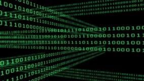 Binaire codenet op zwarte achtergrond