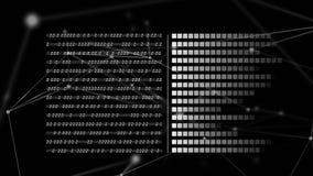 Binaire codes en vierkanten stock video