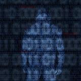 Binaire codes met binnendrongen in een beveiligd computersysteem wachtwoord Stock Fotografie