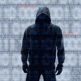 Binaire codes met binnendrongen in een beveiligd computersysteem wachtwoord Royalty-vrije Stock Afbeelding