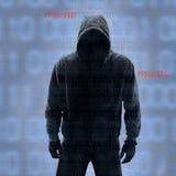 Binaire codes met binnendrongen in een beveiligd computersysteem wachtwoord Royalty-vrije Stock Foto's