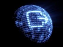Binaire codetechnologie Stock Fotografie