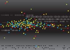 Binaire et couleurs illustration stock