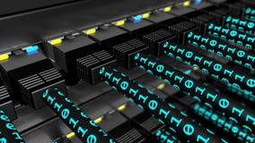 Binaire gegevens die over UTP-kabelslijn overbrengen royalty-vrije illustratie